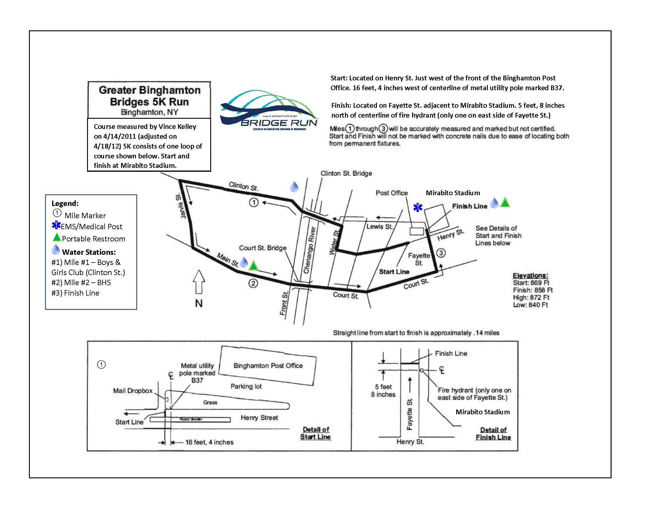 Bridge Run 5K Map
