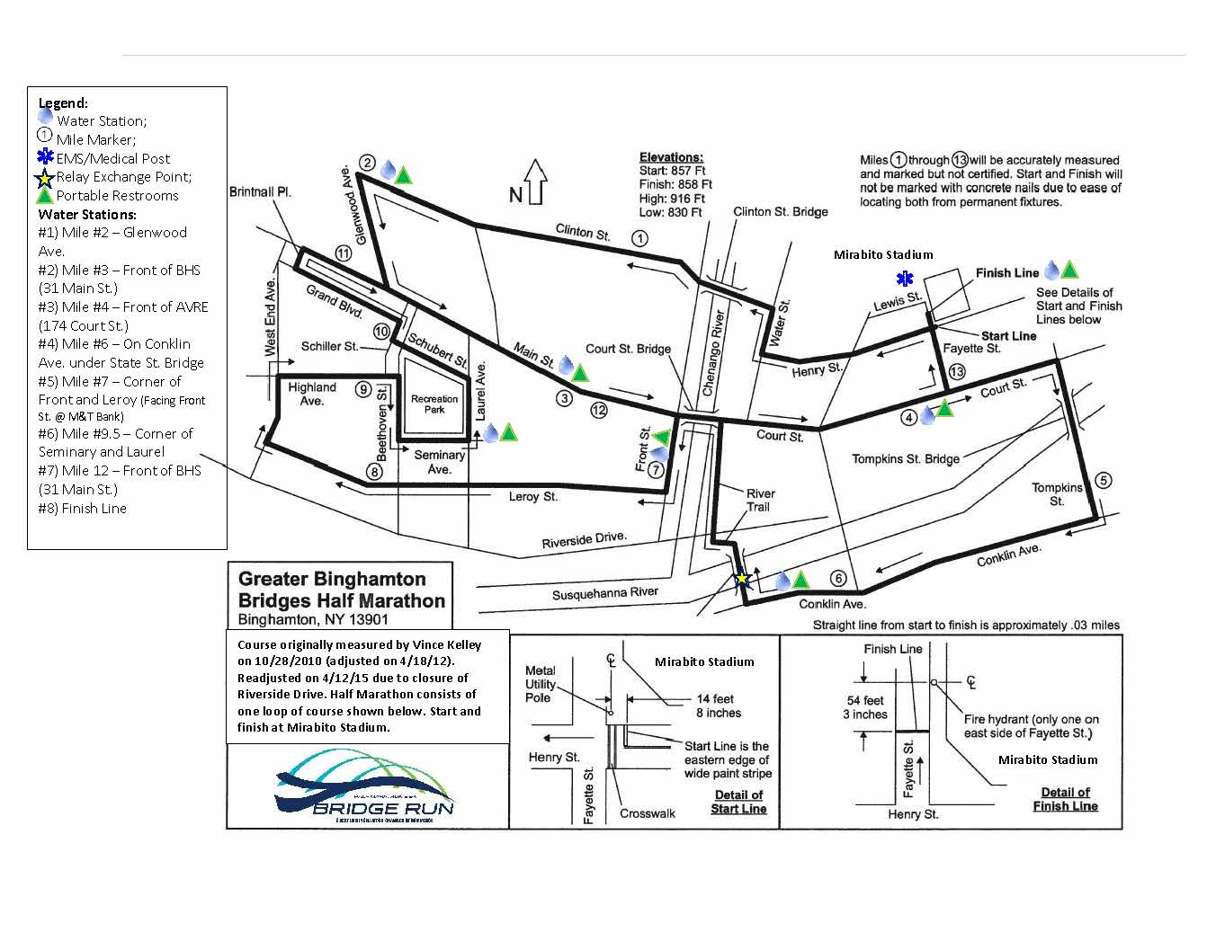 Bridge Run Half Marathon Map